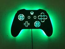 Luminoso Decorativo de Parede Controle Xbox Game - J & R Personalização Em Mdf