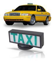 Luminoso Taxi Grande Com Imãs - ELETRIC