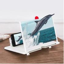 Lupa Ampliadora de Tela Smartphone Amplificador de Imagem Celular 3D Suporte Universal - daybee