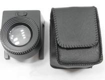 Lupa Conta Fios base metal 20x com leds branco e UV, escala em mm (resolução 1 mm) e pol + bolsa - Bdg