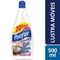 Lustra Móveis Perfumado Poliflor 500Ml Lavanda Com 20% -