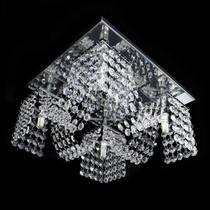 Lustre cristal legitimo plafon quadrado 30x30x15cm - jp-toyota-m4-30 - Hunter