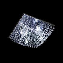 Lustre Cristal Plafon Quadrado 30x30x10cm - Hunter Trade
