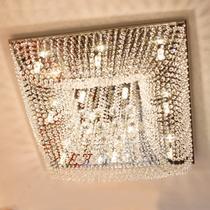 Lustre cristal plafon quadrado 60x60x20cm - jp-kyoto-60 - Hunter