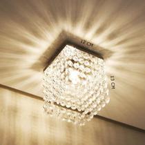 Lustre de cristal k9 legítimo - Preço de fábrica - Quadrado 1212 - Dri Luzarte -