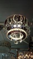 Lustre De Cristal K9 Redondo 40 Cm - Ocean Ligth