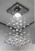Lustre De Cristal Legítimo Alto Brilho Plafon Reto Para Quarto, Sala, Lavabo, Corredor e Hall Social - CASACRISTALLE