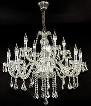 Lustre de Cristal Legítimo K9 12 Braços Transparente - (1189-8+4 T) - Dubai