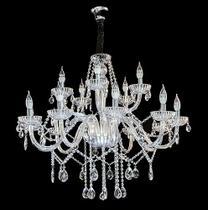 Lustre de Cristal Legítimo K9 15 Braços Transparente - (1290-10+5 T) - Dubai