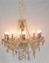 Lustre de Cristal Legítimo K9 8 Braços Conhaque - (1290-8 C) - Dubai
