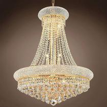 Lustre de Cristal Legítimo K9 Imperial Gold  (7002/600 GD) - Dubai