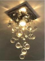 Lustre de Cristal Verdadeiro K9 Super Barato Alto Brilho - Casa cristalle - Desconexo - Aço Inox Espelhado - CASACRISTALLE