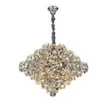Lustre Moderno de Cristal Diamond - Transparente 9 Lâmpadas - Hevvy