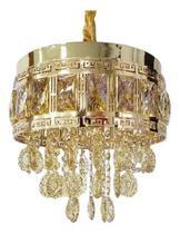 Lustre Pendente De Cristal Legítimo K9 - GOLD - Dubai