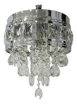 Lustre Pendente De Cristal Legítimo K9 - Prata. - Dubai