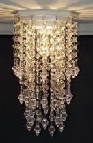 Lustre Plafon Cristal Acrílico Decorar Cozinha Iluminação Decoração Lavabo Luminária Hall 17x27 Gabi - Lustres Sh Design