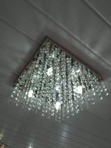 lustre plafon cristal legitimo k9 para sala estar jantar e quarto para 4 lampadas led cissane - Lustres Cissane Personaliza
