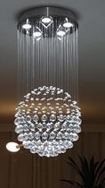 Lustre Plafon de Cristal Legítimo - Bola - 80 Cm - Debby Artes - Lustres Debby Artes