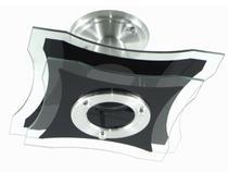 Lustre Plafon de Sobrepor de Teto - Capela Preto - 2 Vidros - Sala Cozinha Quarto - Vitrine Dos Lustres
