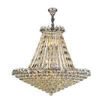 Lustre shine sl-5692l h17, estrutura em metal cromado e cristal transparente, 17xg9, hevvy. -