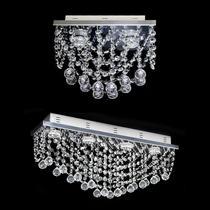 Lustres de cristal original com base em aço inox polido para 4 lampadas cada um - Hunter