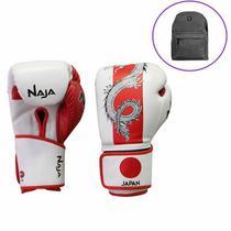 cab516c04 Luva Boxe Muay Thai Competição Países Japão Naja + Mochila