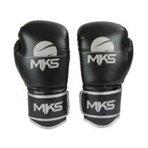 Luva Boxe Muay Thai Mks Combat Energy Preto/Prata -