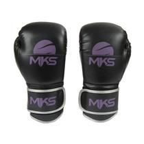 Luva Boxe Muay Thai Mks Combat Energy Preto/Roxo -