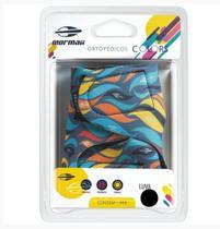 Luva Colors Mormaii Musculação Ciclismo Zebra  Amarelo Azul - G -