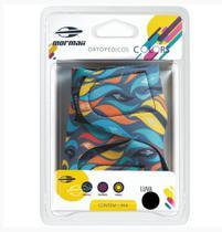 Luva Colors Mormaii Musculação Ciclismo Zebra  Amarelo Azul - P -