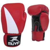 Luva de Boxe Bolt BX - 12oz - Preto/Vermelho - Muvin LVB-200 -