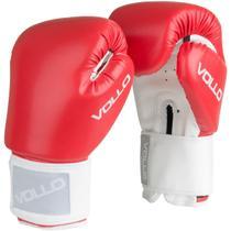 Luva de Boxe COMBAT 12 OZ Vermelha Vollo VFG302-12 -
