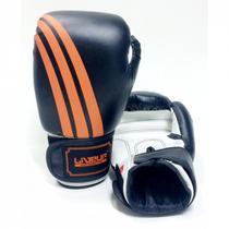 Luva De Boxe e Muay Thai 14 Oz Preta com Laranja - LiveUp Sports LS3086D -