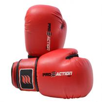 Luva de Boxe e Muay Thai Profissional 12 Oz Vermelha Proaction -
