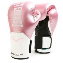 Luva de Boxe Everlast Elite ProStyle Rosa e Branco -
