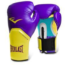 Luva de Boxe Everlast Pro Style Elite Roxo/Amarelo -