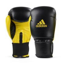 Luva de Boxe Muay Thai Adidas Power 100 Colors Preto/Amarelo -