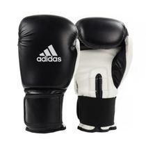 Luva de Boxe Muay Thai Adidas Power 100 Colors Preto Branco cce7378d015a7