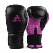 Luva de Boxe Muay Thai Adidas Power 100 Colors Preto/Rosa -