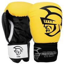 Luva De Boxe / Muay Thai Elite Training Amarela Pretorian -