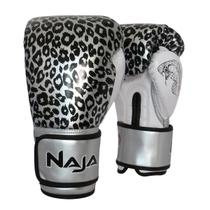 Luva de Boxe / Muay Thai Feminina Naja Animal Print Cobra 12 Oz -