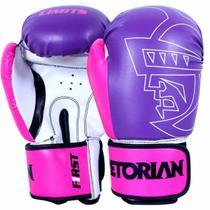 Luva de Boxe Muay Thai First 12OZ Roxo e Rosa - Pretorian -