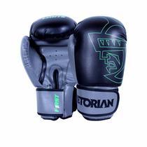 Luva de Boxe Muay Thai First 16OZ Preto Cinza - Pretorian -