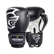 Luva de Boxe Muay Thai Pretorian Com Bandagem Protetor Bucal Treinamento Tamanho 14 OZ -