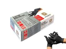 Luva Descartável Nitrílica Preta Descarpack Cx C/100 Sem Pó -