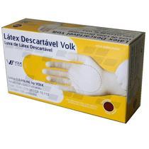 Luva em Látex Descartável, com Pó, tamanho P, marca Volk  (BuckPro: SLP-P-00103) - Volk do Brasil