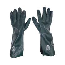 Luva Kalipso Pvc 45cm Verde Tamanho 9,5/g Com Forro -