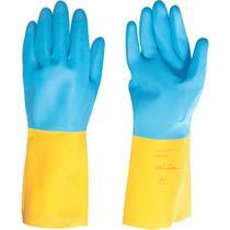 Luva latex neoprene xg amarelo/Azul ca34449 - Vonder -