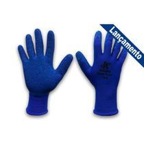 Luva Malha Kalipso Blueflex Emborrachada M Par  02.02.4.2 Kit C/12 - Rcdeletrica