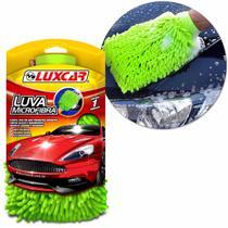 Luva Microfibra Luxcar Para Limpeza Automotiva Interno e Externo Não Risca Lavar Secar e Polir -
